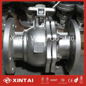 Stainless Steel Ss304/CF8 Ball Valve with Flange Ends