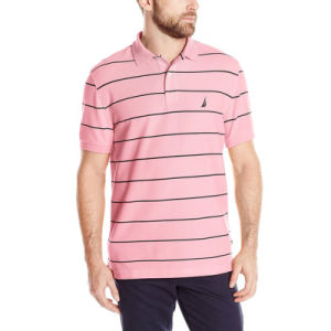 Factory Produce Cheaper Price Men Striped Polo Shirt pictures & photos
