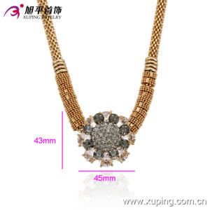 Fashion Xuping 18k Gold-Plated Female Zircon Necklace in Environmental Copper Alloy -00014 pictures & photos