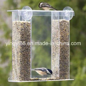 Crystal Clear Acrylic Plastic Birds Eye View Window Feeder pictures & photos