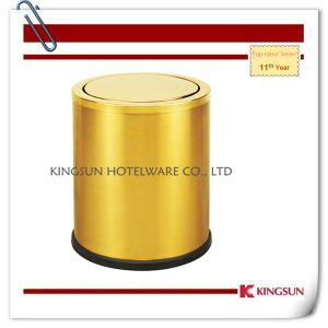 Hotel Room Dustbin Gold Color Db-735b pictures & photos