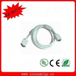 VGA 15-Pin Male to VGA 9-Pin Male Serial Adapter Cable - White pictures & photos