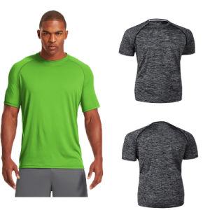Men Plain Gym Dry Fit Sport Seamless T-Shirt pictures & photos
