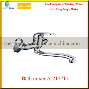 Chrome Sanitary Ware Bathroom Long Spout Bathtub Faucet