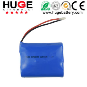 11.1V 2200mAh Rechargeable Lithium Battery Pack pictures & photos