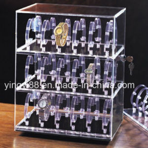 Custom Acrylic Revolving Watch Display Cases (YYB-758) pictures & photos
