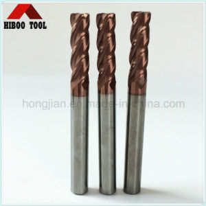 Copper Coating HRC60 Corner Raduis Milling Cutter pictures & photos