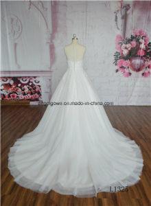 Lace Muslim Bridal Gowns Arabic Dubai Big Train Wedding Dress pictures & photos