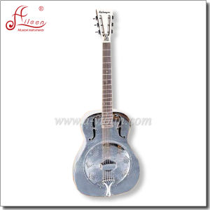 [Winzz] Metal Body Round Neck Resonator Guitar pictures & photos