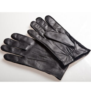 Men′s Fashion Outside Sewing Sheepskin Leather Driving Gloves (YKY5191) pictures & photos