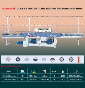 Glass Straight-Line Grinding Machine (HZM8325C) K195 pictures & photos