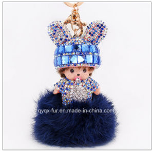 2015 Cute Mengqiqi Fur Ball Bag Charm /Keychain for Christamas Gift pictures & photos