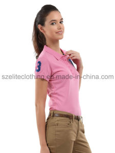 Custom Short Sleeve Women Sexy Polo Shirts (ELTWPJ-247) pictures & photos