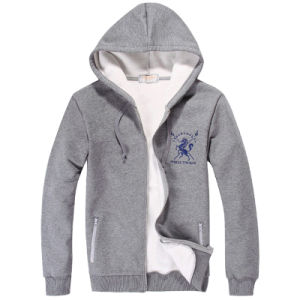 Fashion Heather Grey Hoody Whith Customized Logo pictures & photos