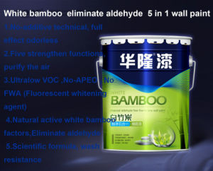 Hualong White Bamboo Charcoal Eliminate Aldehyde Purfiy Air Wall Paint pictures & photos