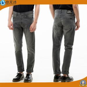 Men Cotton Denim Jean Straight Pants Loose Long Jeans