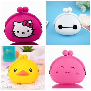 Hot Customized Cartoon Silicone Coin Purse pictures & photos