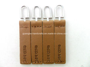 Top Quality Black Leather Customized Slider Zipper pictures & photos