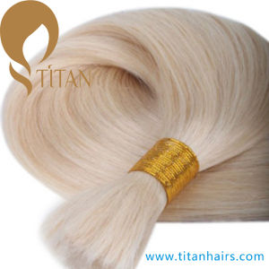 Good Quality Remy Human Hair Bulk in 613# Color pictures & photos