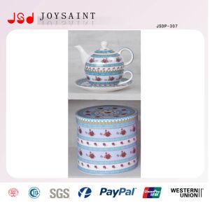 Old China Porcelain Tea Pot with Saucer