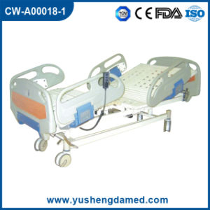 Steel Folding Electric ICU Hospital Bed with CPR Function Cw-A00018-1 pictures & photos