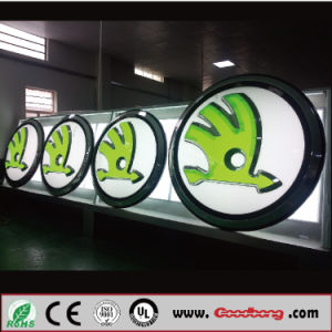 Customized Banner Signage Advertising 3D Car Logo Signs for Skoda pictures & photos