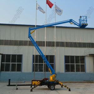Aerial Working Mobile Trailer Folding Boom Lift Working Table pictures & photos