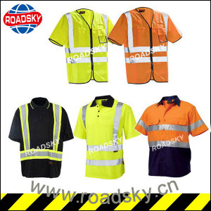 En471 Orange/ Green/ Yellow Polyester Safety High Visibility Clothes pictures & photos