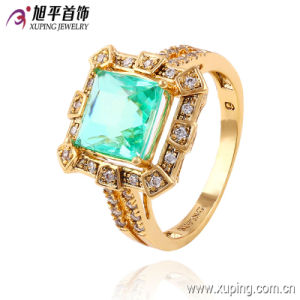 Latest Fashion Gold-Plated Diamond CZ Jewelry Finger Ring in Nickel Free for Women -13540 pictures & photos