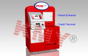 Customized Self-Service Touch Screen Parcel Delivery Kiosk pictures & photos