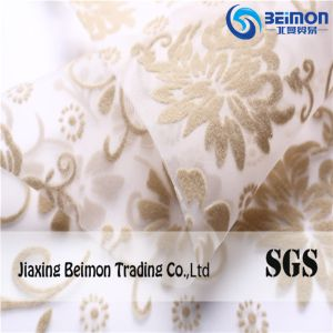 Flower Flocking 2020 Organza Bottom for Dress or Cloth Decoration pictures & photos