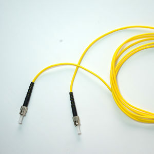 3m St-St PVC Jacket Sm Fiber Optic Patch Cord pictures & photos