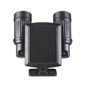 Outdoor Telescope Design Solar Security Garden Light Dual Head PIR Motion Senor Solar Spotlight pictures & photos