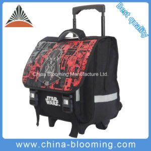 600d Polyester School Roller Backpack Trolley Bag pictures & photos