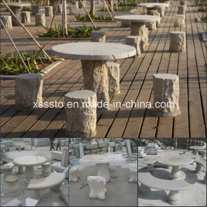 Hot Sale Stone Tables and Benches Sets for Garden Decoration pictures & photos