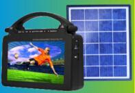 Mini Solar Energy TV with 4000mAh Inside Battery pictures & photos
