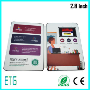 4.3 Inch White Card No Logo Video Greeting Card pictures & photos