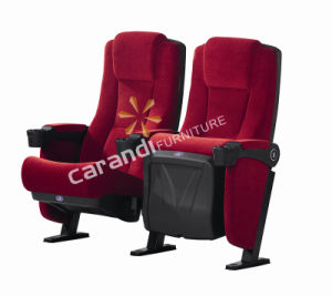 Comfortable Fabric Cinema Chair with PP Cup Holder