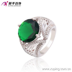 Xuping Latest Cool Design with CZ Big Stone Custom Aqeeq Jewelry Rings -13664 pictures & photos