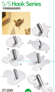 Decorative Bathroom Hardware Stainless Steel Single Towel Hook pictures & photos