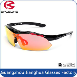 2017 Iridium Lenses Fashion Cycling Sunglasses with Your Logo Bulk Buy Driving Sun Glasses Interchangeable Temple Volleyball Golf Eyewear pictures & photos