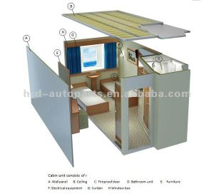 Prefabricated Ship Cabin Unit pictures & photos