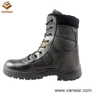 Polyurethane Military Combat Boots with Comfortable Suede Collar (WCB006) pictures & photos