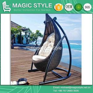 High Quality Swing Rattan Wicker Swing Outdoor Patio Swing Balcony Hammock (Magic Style) pictures & photos