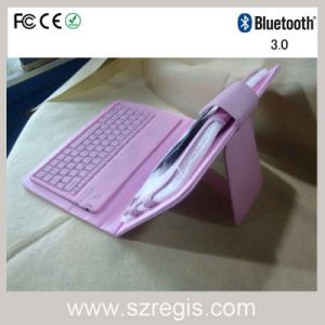 7inch PU Leather Case Wireless Bluetooth 3.0 Keyboard for Samsung pictures & photos