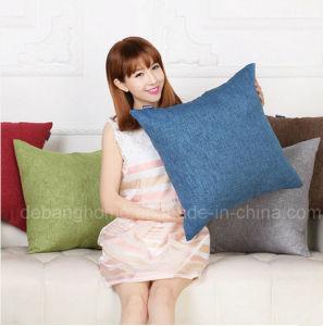 Solid Bed Sofa Cushion Waist Pillow Retro Cotton Linen Cushion pictures & photos