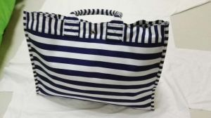 Hot New Stripe Canvas Women Beach Tote Bag Wholesale (H298) pictures & photos