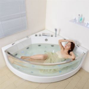 Luxury Jacuzzi Walk-in Tub Whirlpool Bathtub Indoor Whirlpool Bathtub with TV (SF5B011) pictures & photos