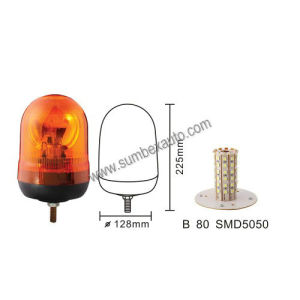ECE R10 R65 Emark 12/24V Single Bolt Mount High Profile Amber Strobe Beacon LED Warning Light (SM804EB)