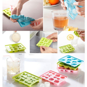 Bowknot Button Shape Silicone Ice Mould Ice Tray pictures & photos